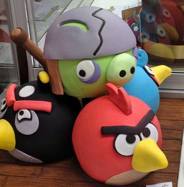 G teau anniversaire original en 75 id es pour fille ou gar on oiseaux d co et angry birds - Idee gateau anniversaire garcon ...