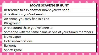 osmosis jones movie scavenger hunt