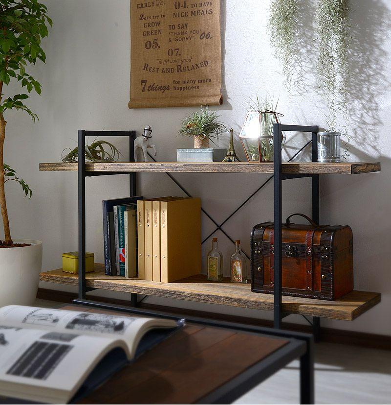 楽天市場 スチールラック ラック スチール棚 木製 収納 棚 シェルフ
