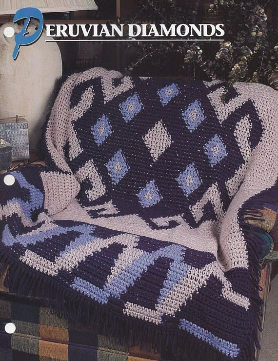 Peruvian Diamonds, Annie\'s Crochet Afghan & Quilt Pattern Club ...