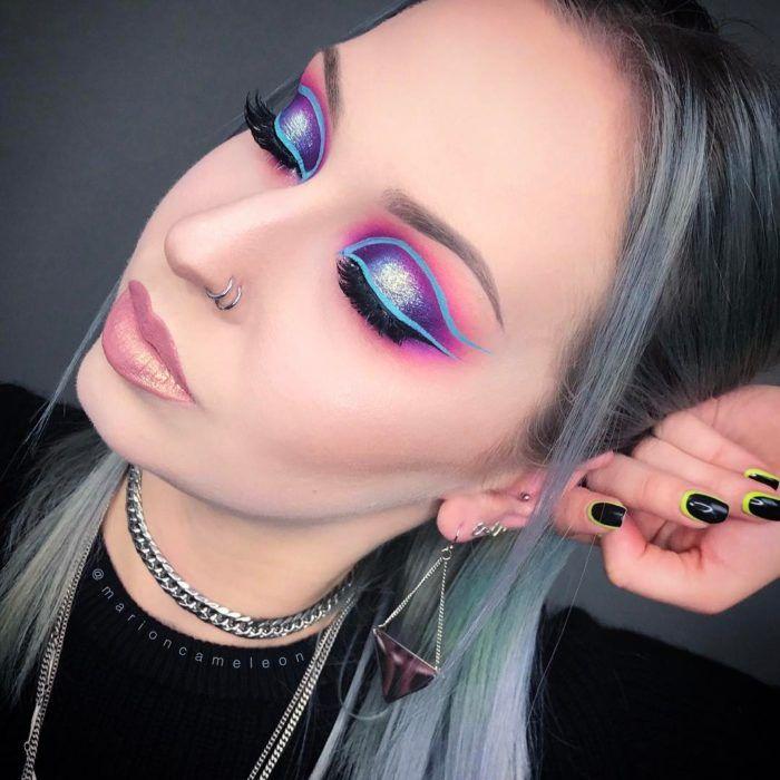 Maquillaje neón, la nueva tendencia que está enloqueciendo a