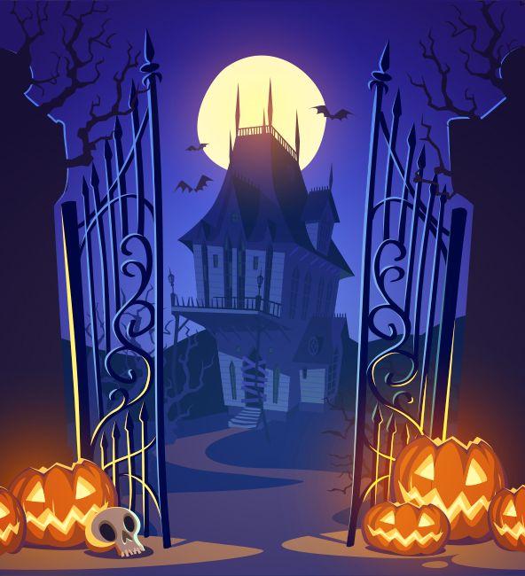 Casa Encantada De Halloween Imagen Fondos De Halloween Ilustracion De Halloween Fondo Halloween