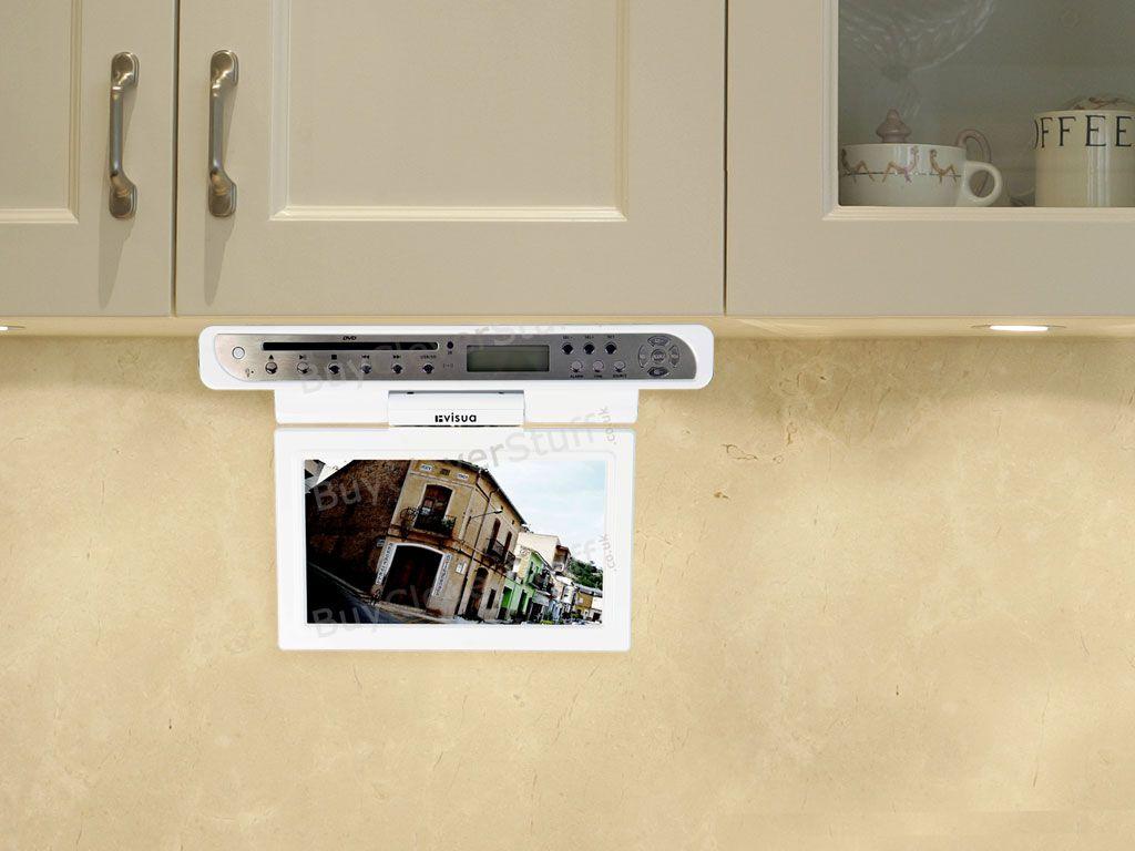 29 Kitchen Tvs Flipdown Tv Pop Up Tv Cabinet Door Tv Ideas Tv In Kitchen Kitchen Tv