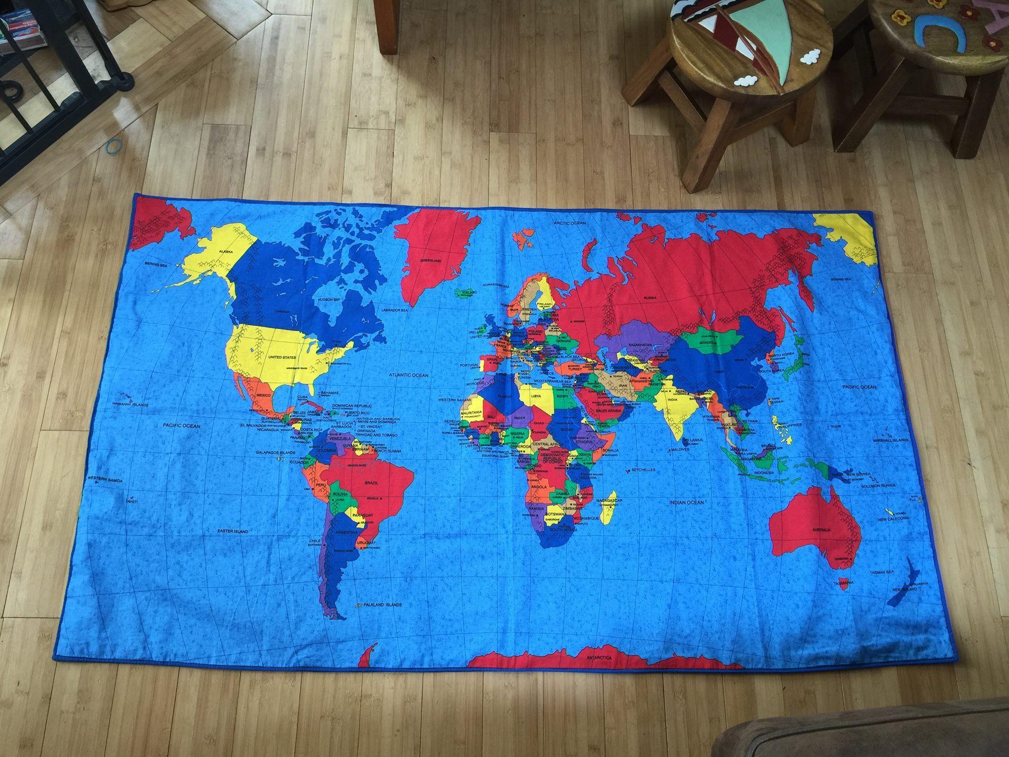 Joann world map novelty fabric montessori continent boxes joann world map novelty fabric gumiabroncs Image collections