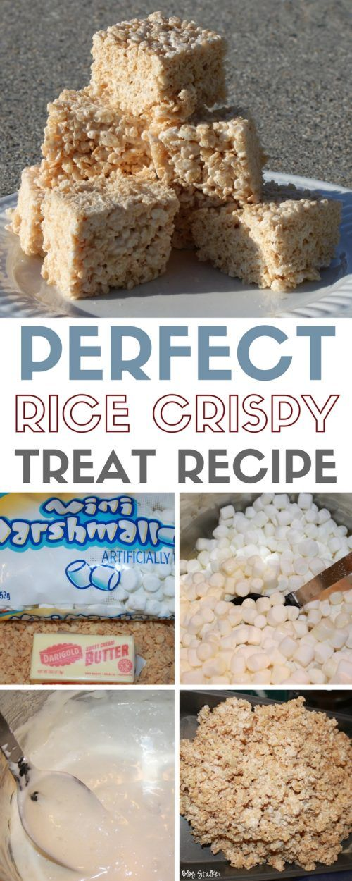 Perfect Rice Crispy Treats #crispytreats
