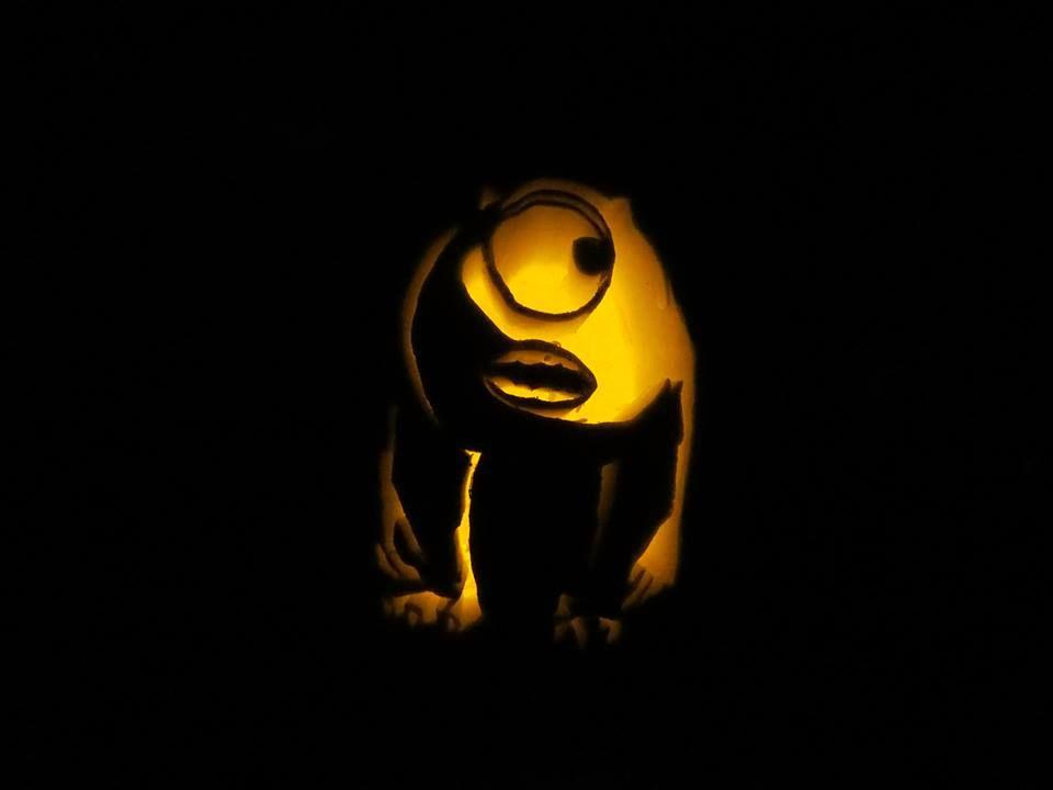 Our Wazowski jack-o-lantern