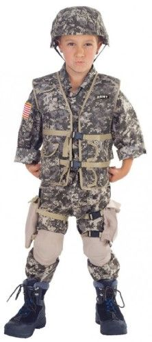 fd64a8ac856 U.S. Army Ranger Deluxe Child Costume Green 4-6 Small, Kids Unisex ...