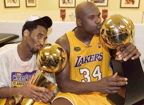 Kobe And Shaq Winning Their First Nba Championship With The Lakers Shaquille O Neal Kobe Bryant Kobe