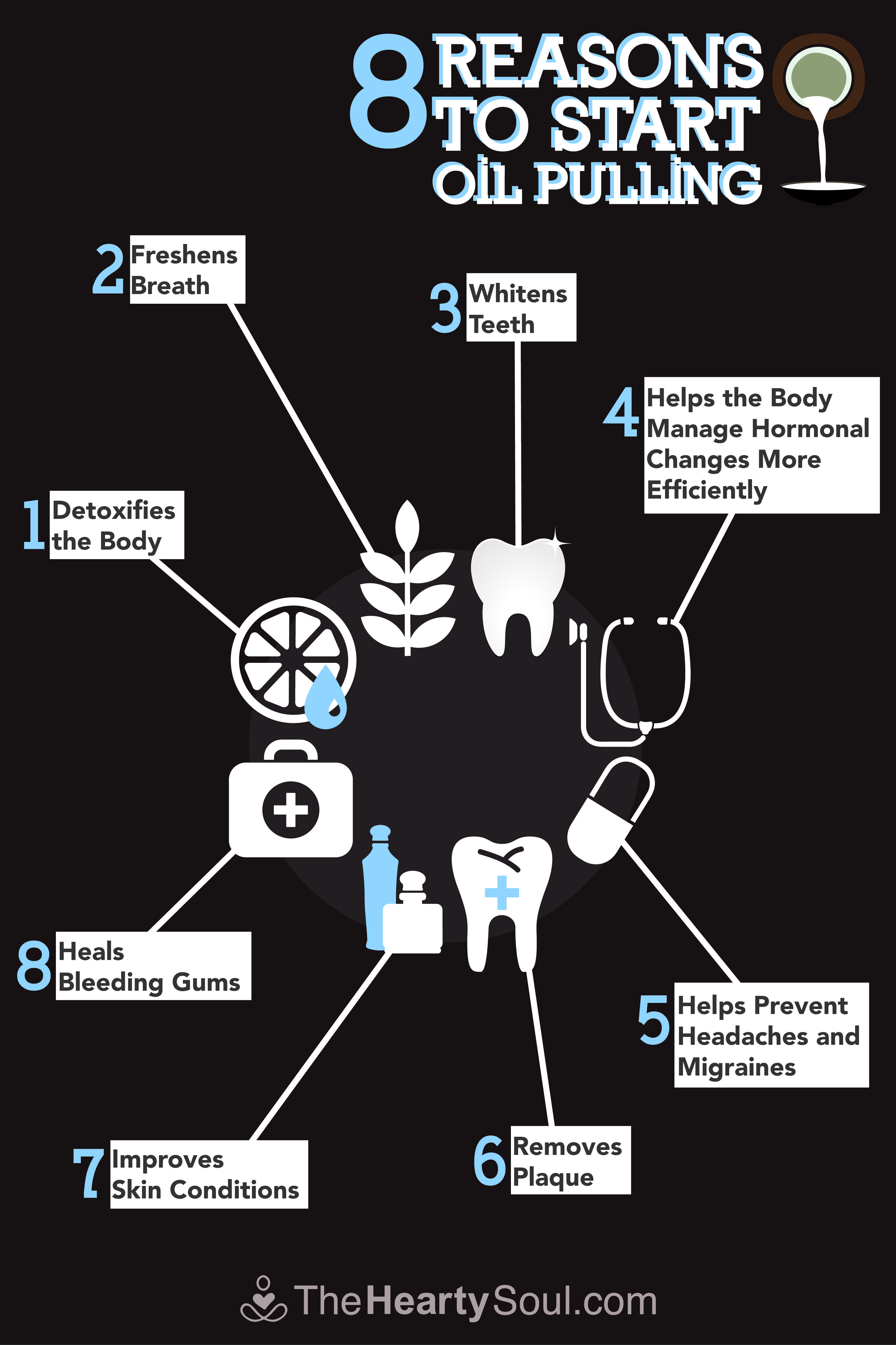 8 Reasons to Start Oil Pulling | Oil pulling benefits Oil ...