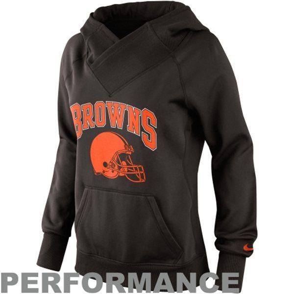 9cb19b96 Nike Cleveland Browns Ladies Wildcard Pullover Performance Hoodie ...