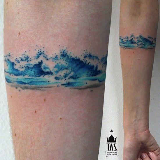 waves armband by rodrigo tas sao paulo brazil small tattoos tattoo pinterest sao paulo. Black Bedroom Furniture Sets. Home Design Ideas