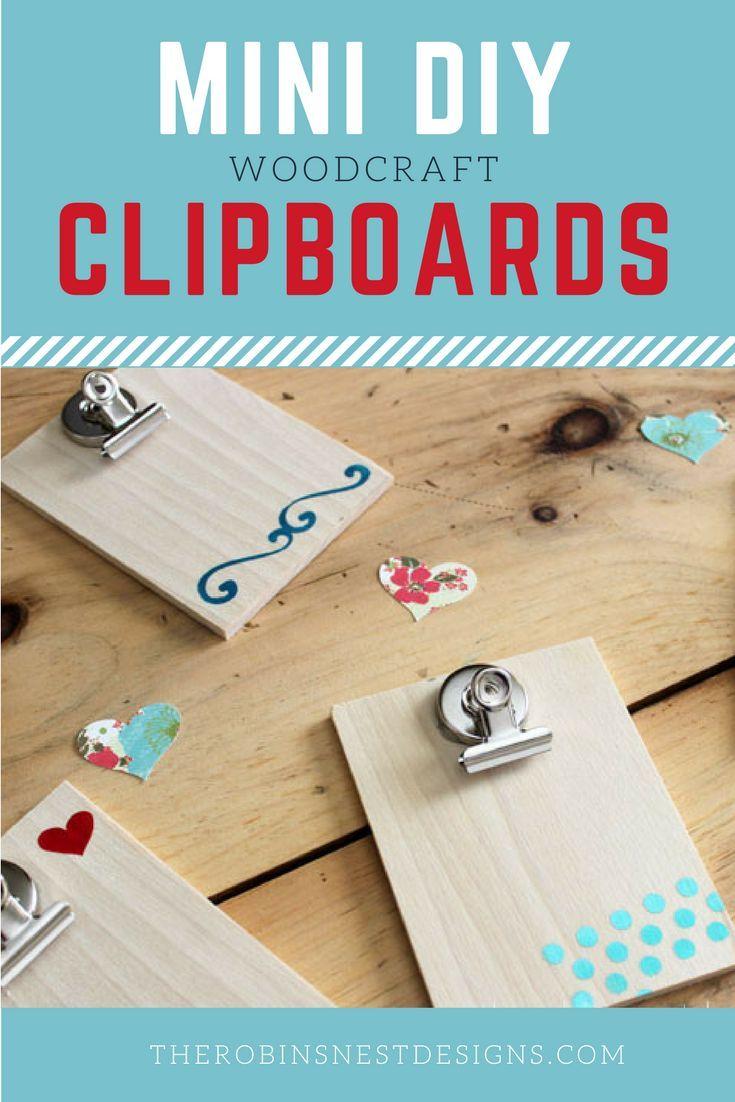 DIY Mini Clipboards