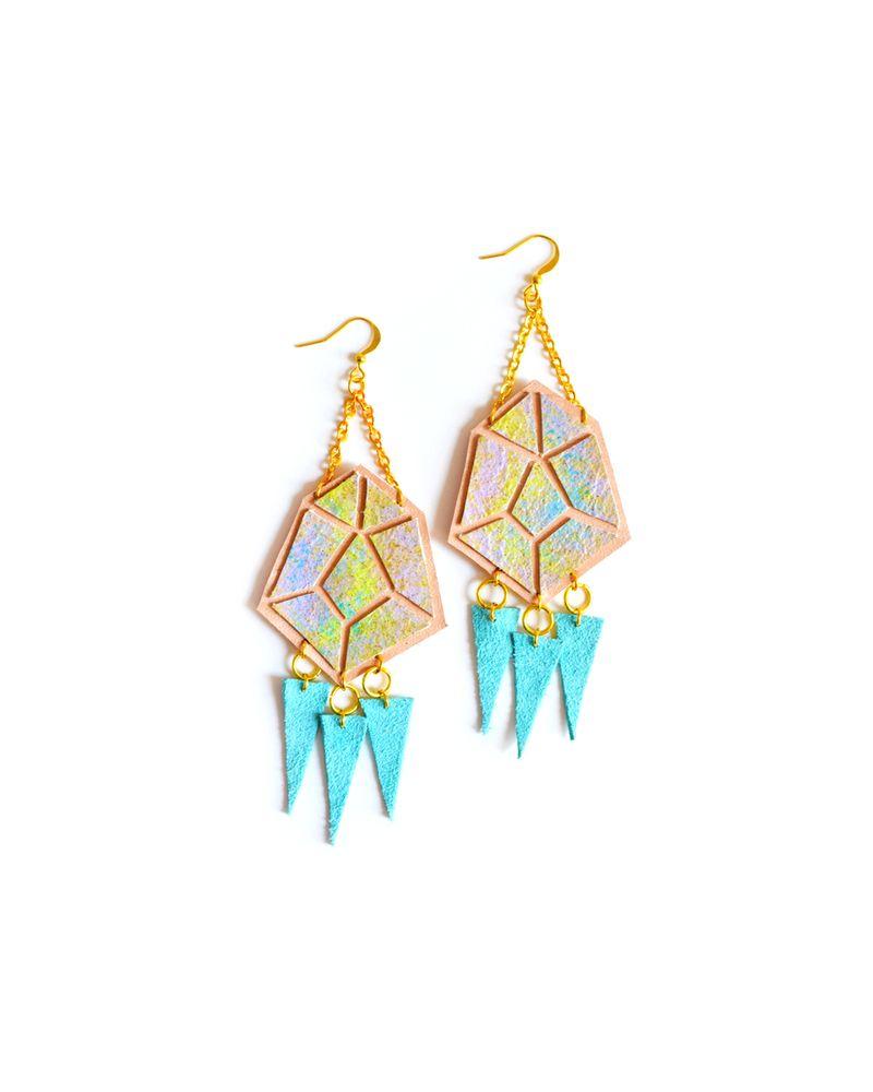 Pastel Ombre Geometric Earrings
