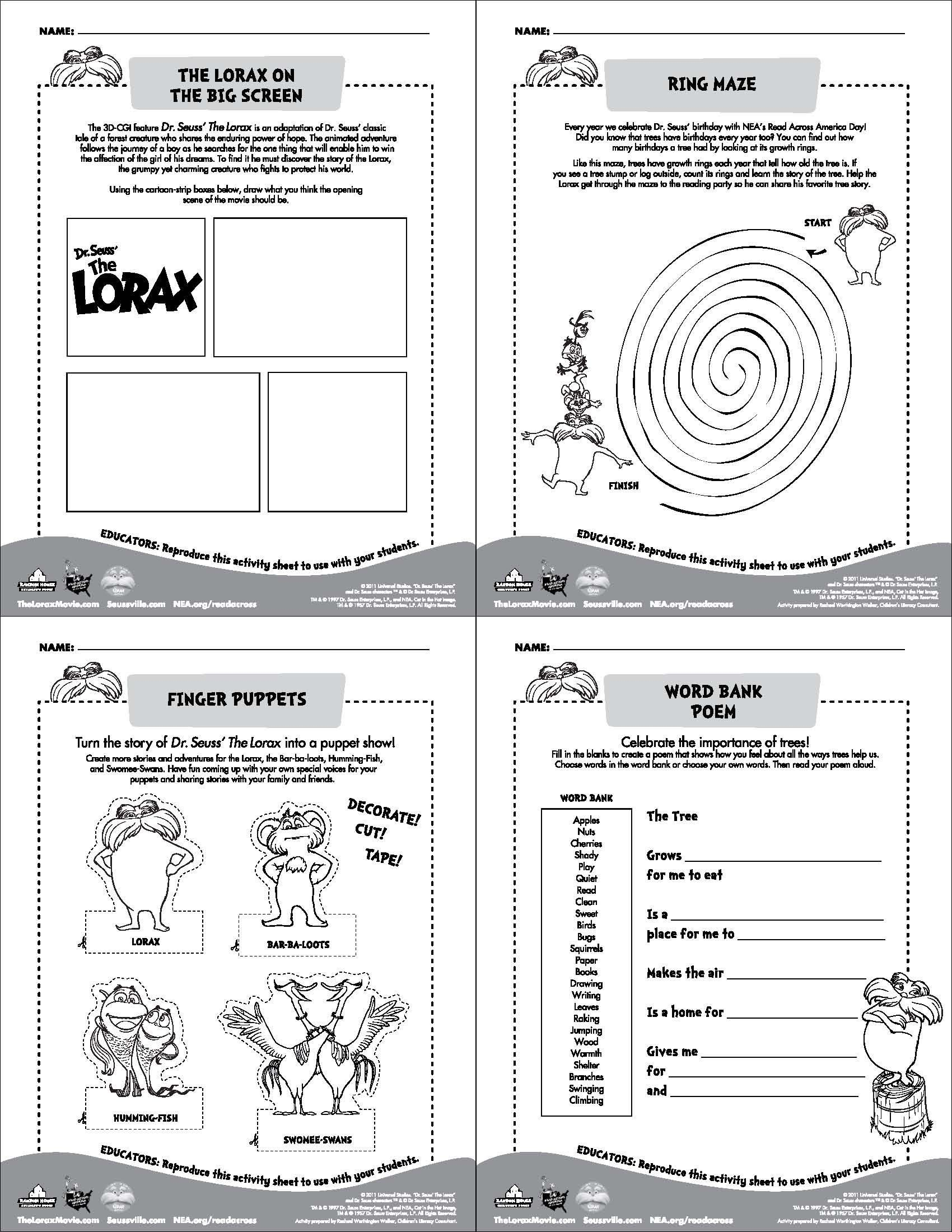 free read across america downloads from nea dr seuss pinterest free reading. Black Bedroom Furniture Sets. Home Design Ideas