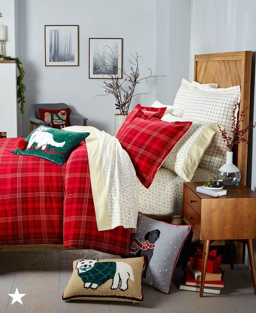 Decorate Your Bed With This Martha Stewart Collection Plaid Sham For