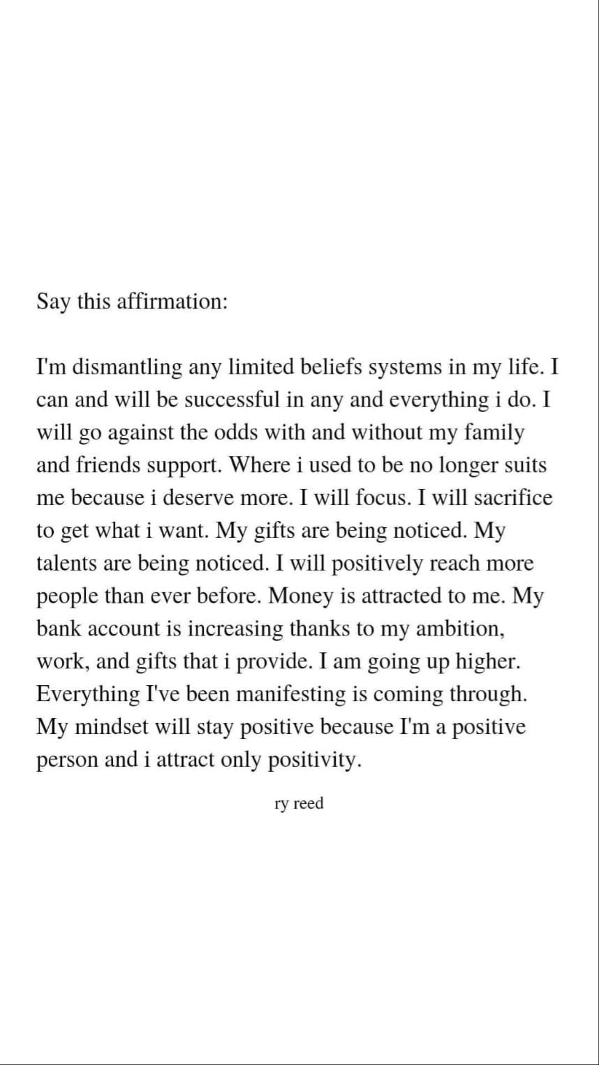 say this affirmation 7 times