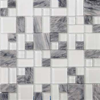 Emser Lucente Grazia Stone Glass Mosaic Pattern Blend Mosaic Tiles Emser Mosaic Glass