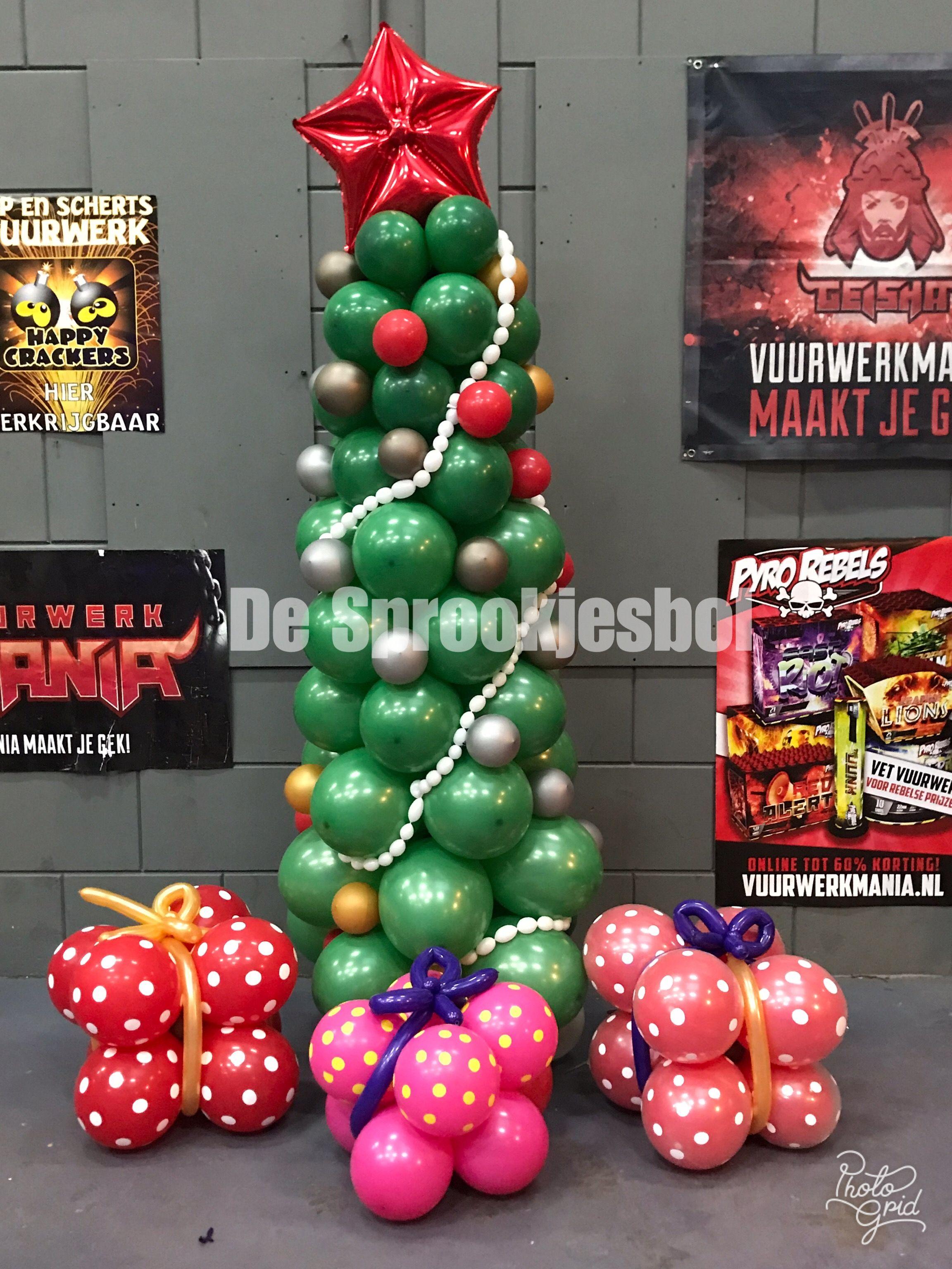 kerst decoratie ballonnen kerst interieur ideen kerstboom kerstmis kerstversiering