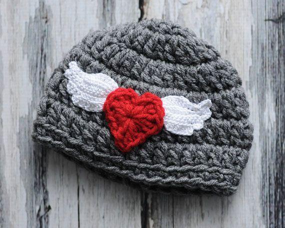a5482c17164 Newborn Valentine Hat by malanes on Etsy