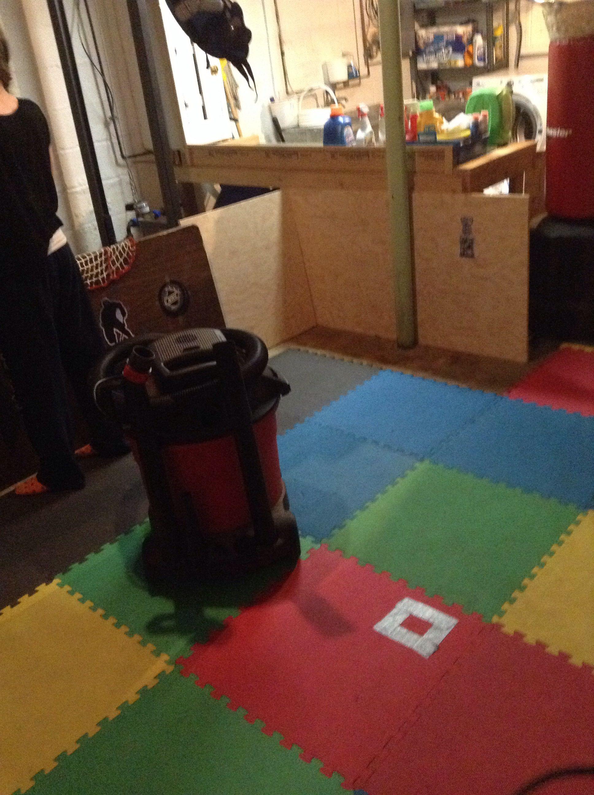 Basement Knee Hockey Rink In Progress Decor Home Decor Hockey