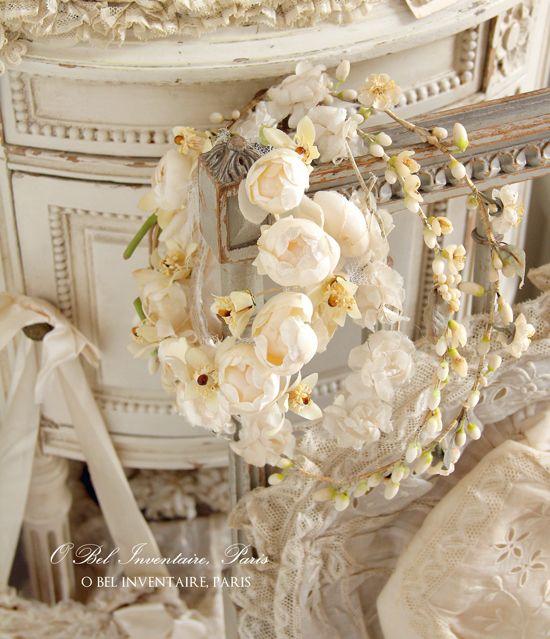 O Bel Inventaire アンヴァンテール French Antique Shop ワックスフラワー ウエディング ヘアアクセ 布花