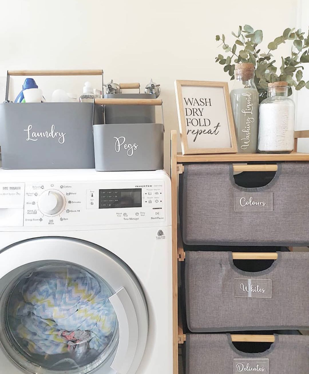 The Realistic Minimalist On Instagram How Creative Is Inspireddecorbytatiana With This Great Washing Basket Hack Def Washing Basket Kmart Hacks Kmart Home