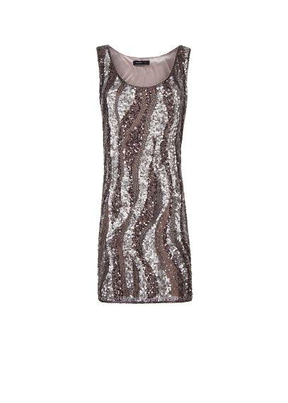 MANGO - Sequins beads dress