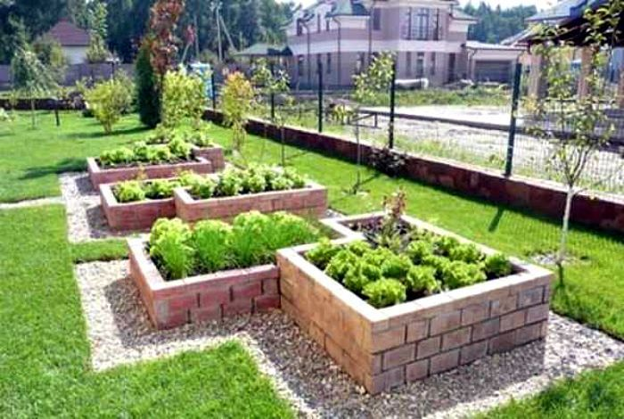 Photo of High beds with brick fencing. #erhöhtegartenbeete High beds with brick fencing.