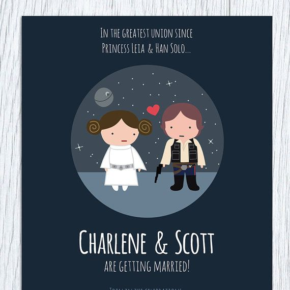 Just Okay Invites Star Wars Printable Wedding Invitation Save The Date By Paperling 4500