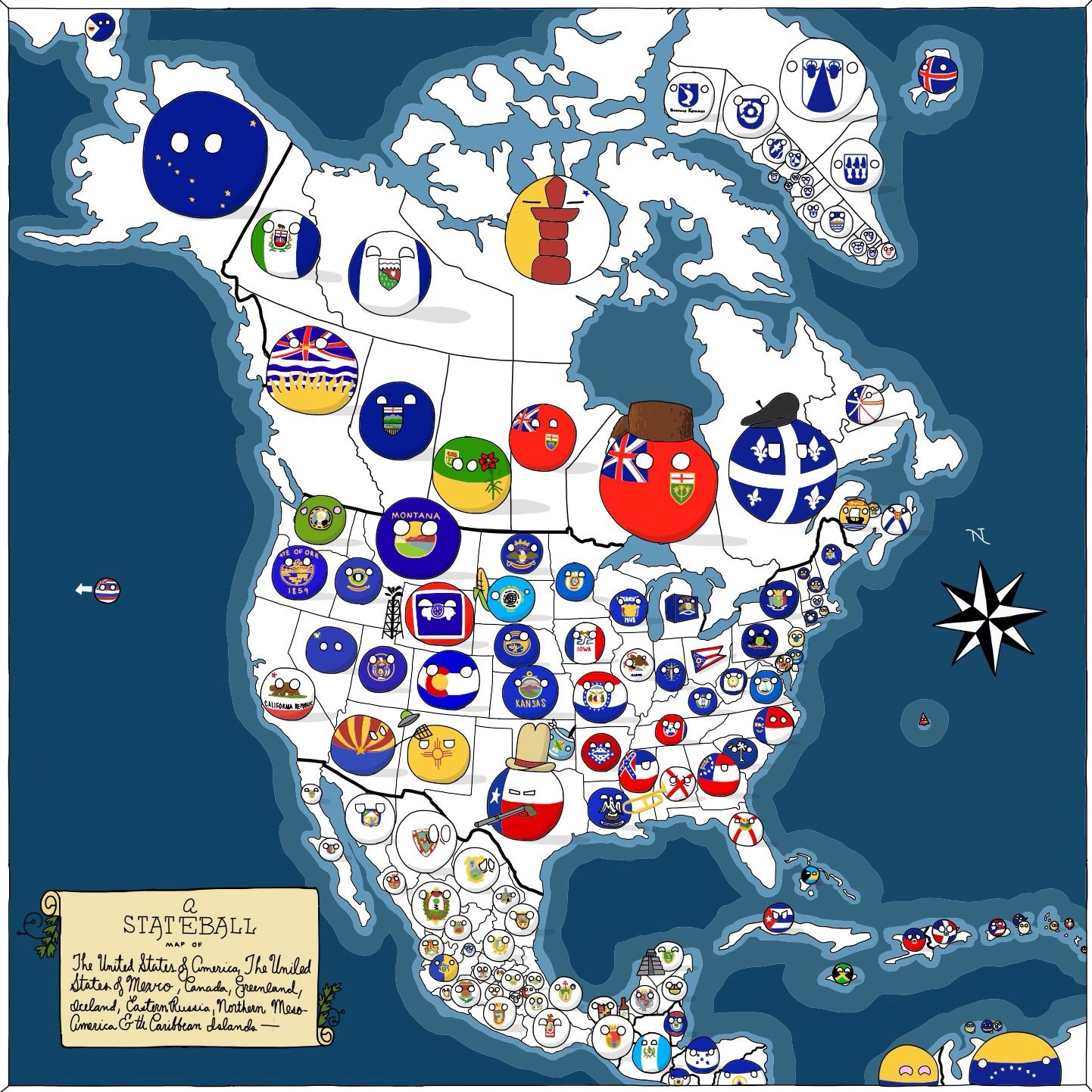A map of north america canada usa mexico by grayfru stateball a map of north america canada usa mexico by grayfru stateball gumiabroncs Choice Image