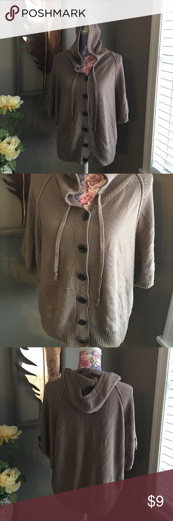 Sonoma Button Up Hooded Sweater | Hooded sweater