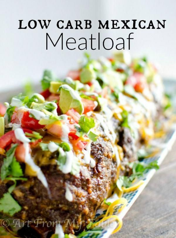 Need a satisfying dinner that sticks with you without all the carbs?  This Low Carb Mexican Meatloaf recipe comes together so easily and will keep you content until your next meal! via @artfrommytable
