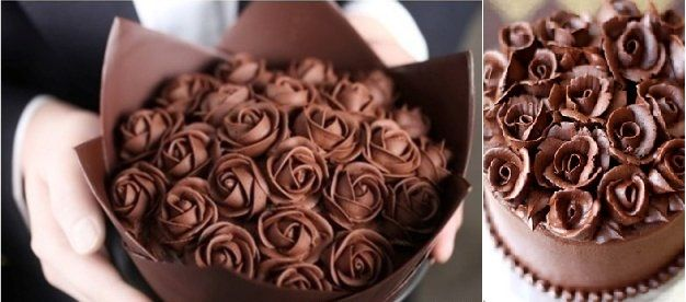Chocolate Cake Decorating Ideas Roses Via Tumblr Left And From Zoe Bakes Right