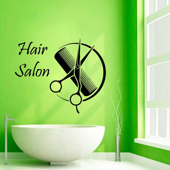 Salon Wall Decor hair salon wall decals hairdressing beauty salon wall decor comb