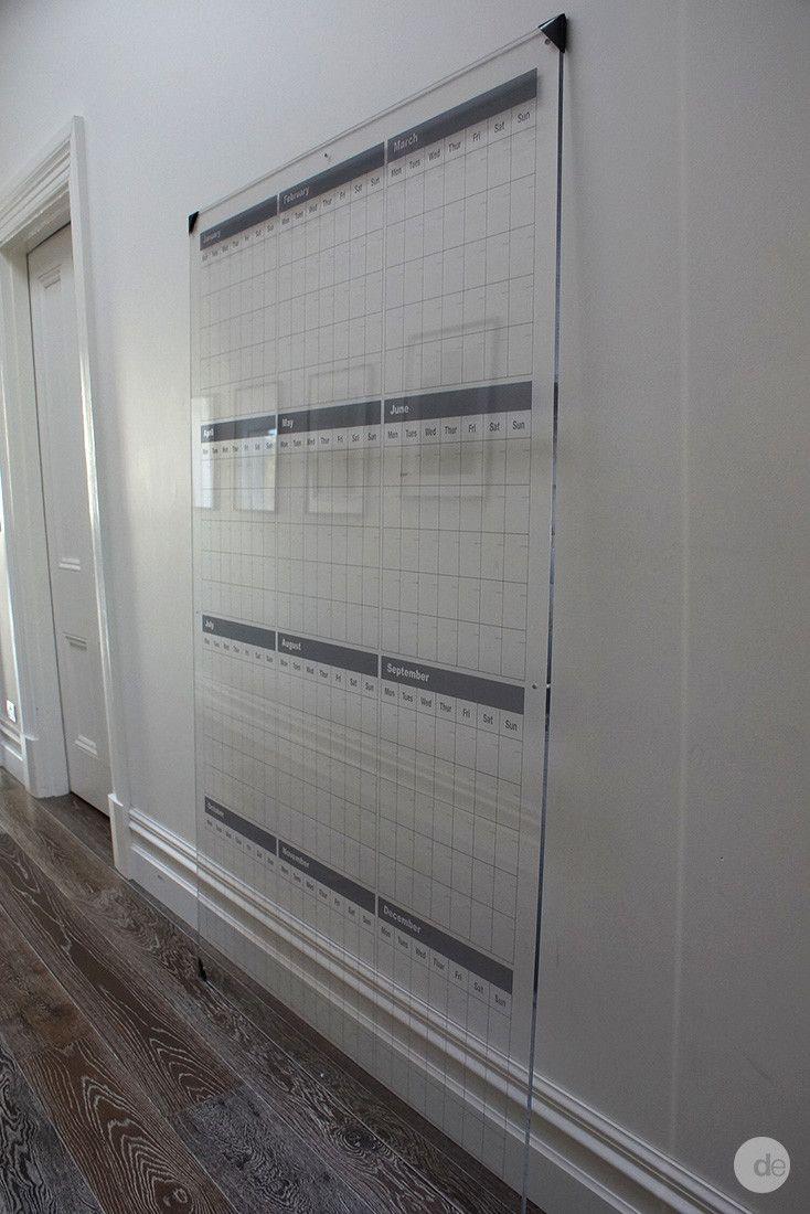 custom planner  perpetual calendar  monthly planner  wall