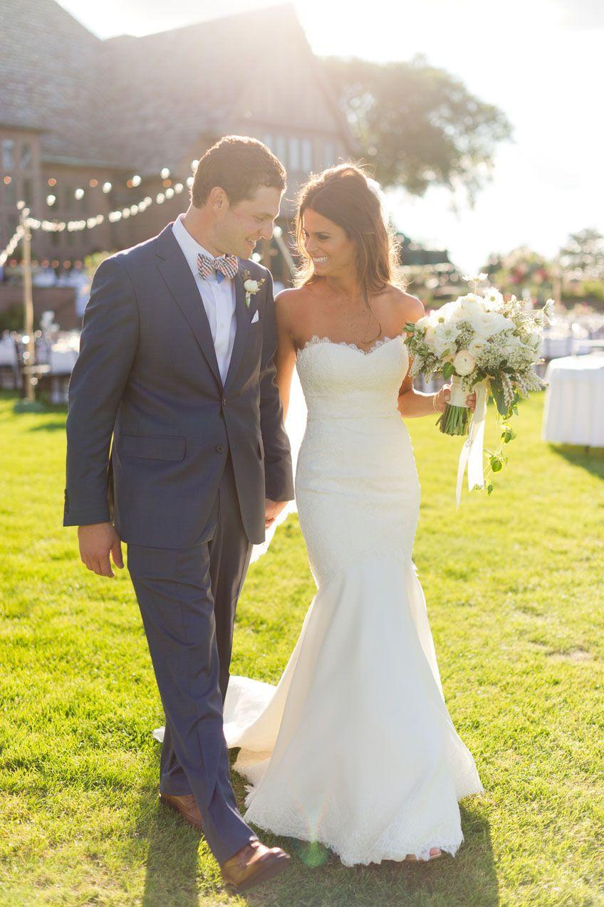 Form fitting lace wedding dresses  Tie The Knot Tuesday Erika u Bradley  Paloma Blanca Real Bride
