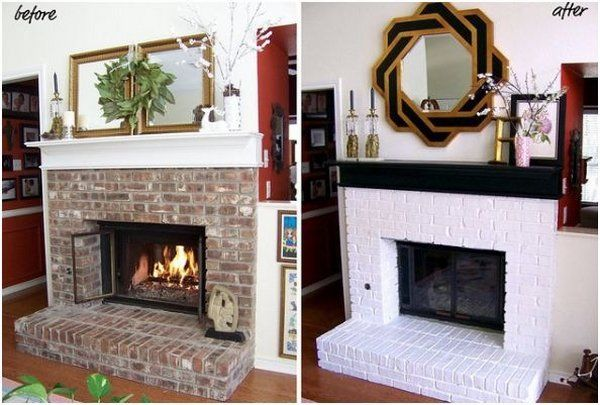 Brick Fireplace Before After Pictures Renovation Ideas