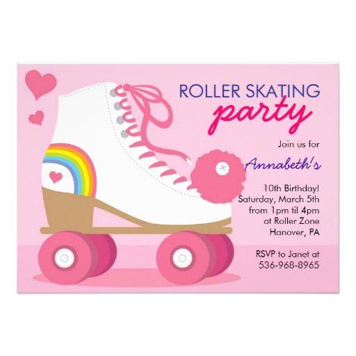 Free Roller Disco Party Invitation Templates Kais 6th Birthday
