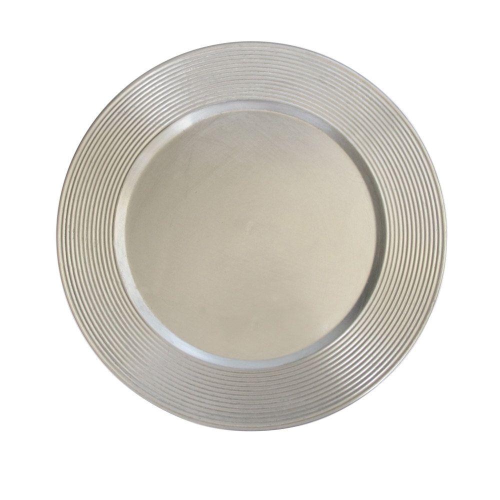 surprising Eventswholesale.com Part - 15: Wholesale Event Solutions - Case of 24 Silver Saturn Charger Plates @  $2.75-pc,
