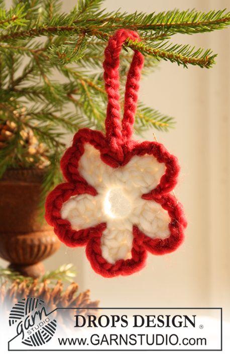 """Gehaakte DROPS Kerst decoratie van """"Eskimo"""""""
