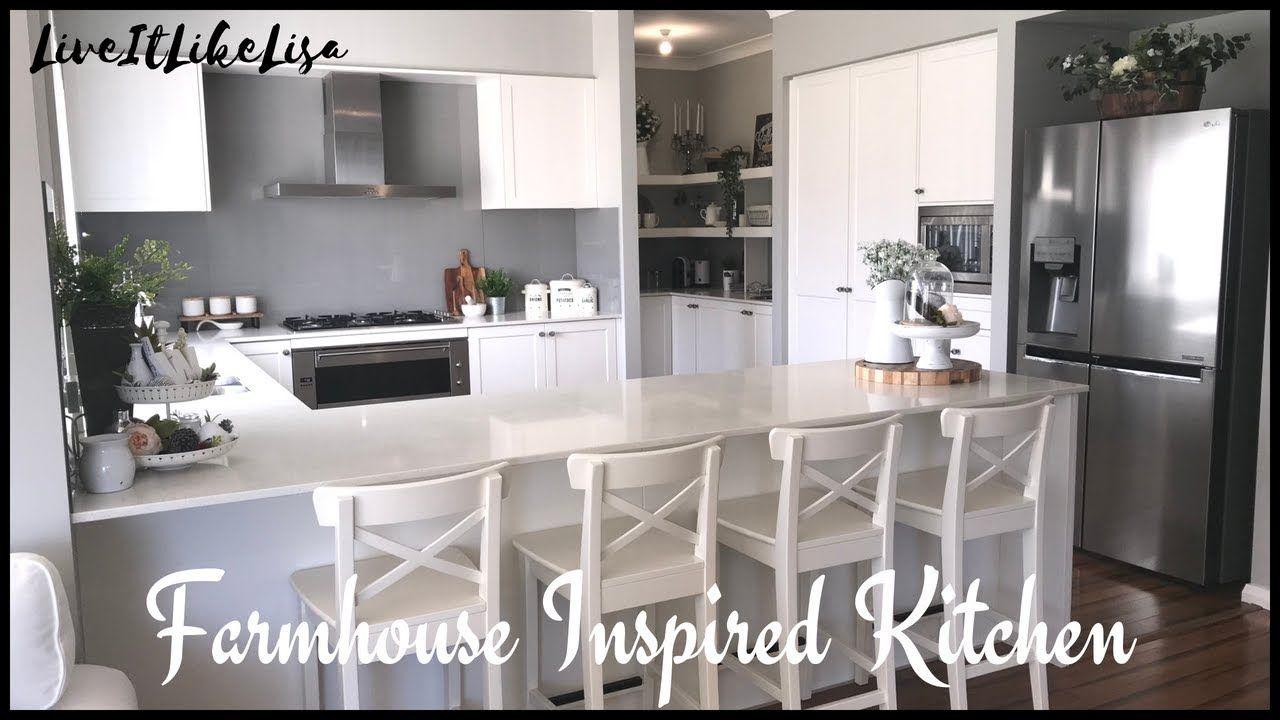 Room tour farmhouse inspired kitchen update kitchen wall art
