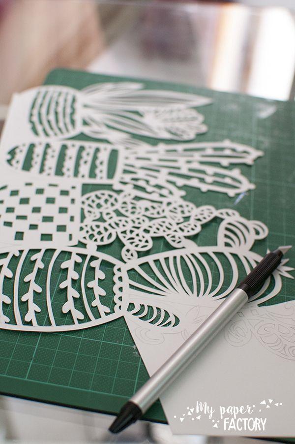 CACTUS/ KAKTUS cactus plants paper cut
