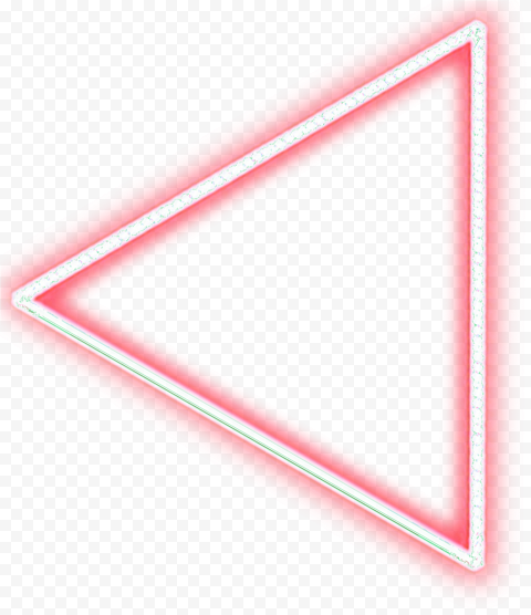 Neon Red Triangle Arrow Point To The Left In 2021 Arrow Point Neon Triangle
