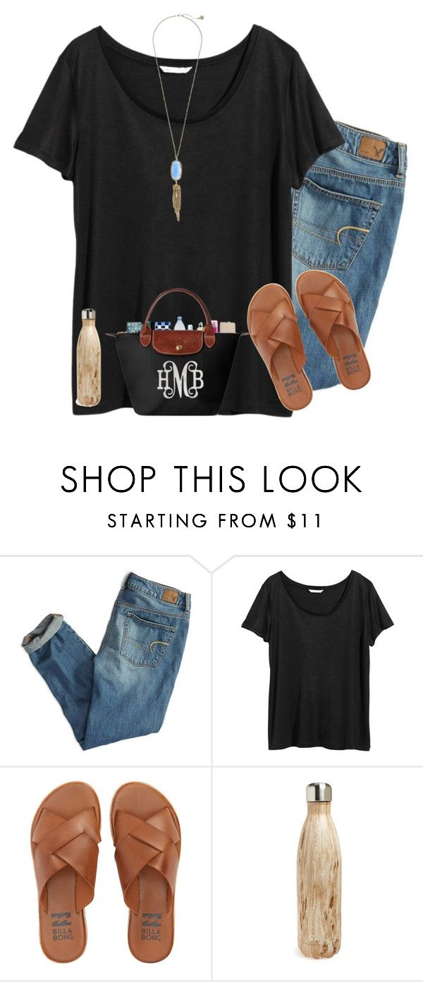 """Villanova of NC?"" by lacrosse-19 ❤ liked on Polyvore featuring American Eagle Outfitters, H&M, Billabong, S'well and Kendra Scott"