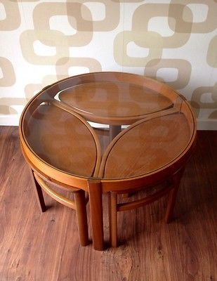 60s 70s Vintage Retro G Plan Nathan Round Coffee Table With 3