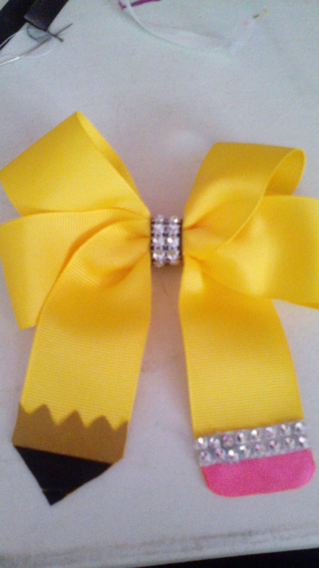 Bowtie Bow Spring Chevron Girl/'s Hair Bow