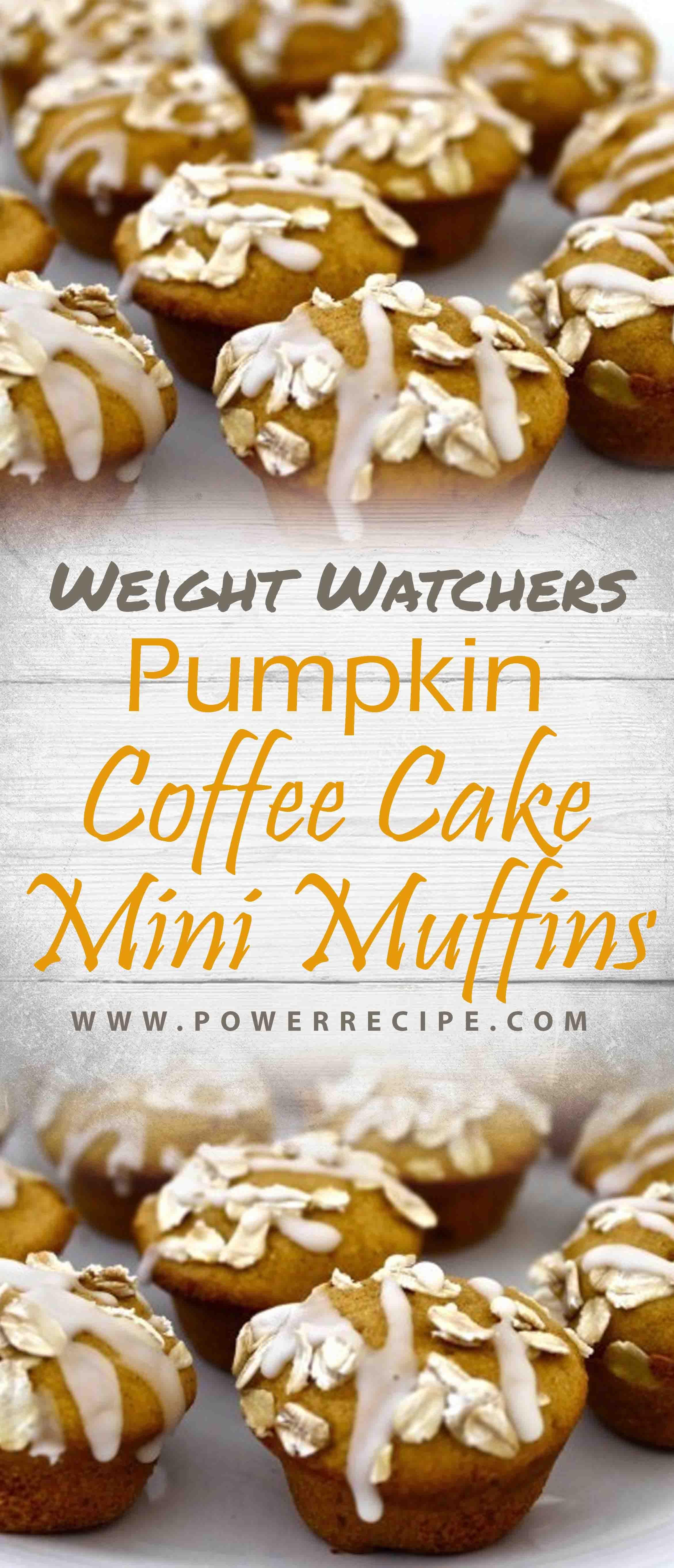Skinny Pumpkin Coffee Cake Mini Muffins Pumpkin coffee