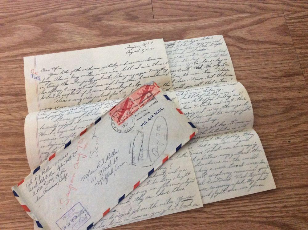 wwii letter raymond j pullen milford ct saipan 1944 japanese korean prisoners