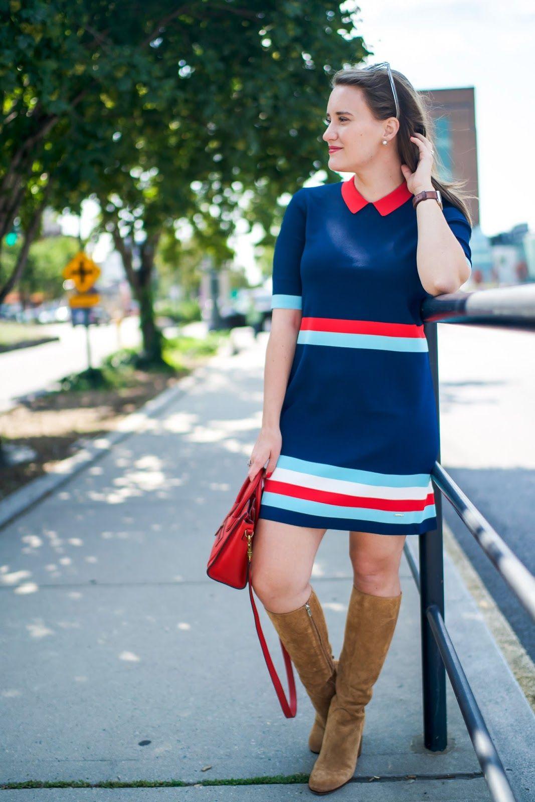 e2f1c2e25 Ted Baker Origami Stripe Knit Dress
