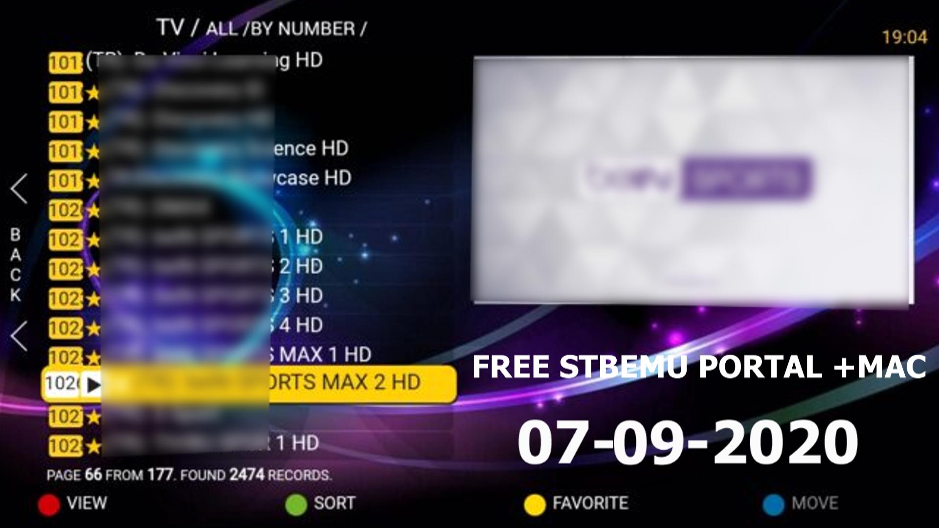 Stb Emu Free Portal Mac Iptv Daily M3u 07 09 2020 App Free Emu